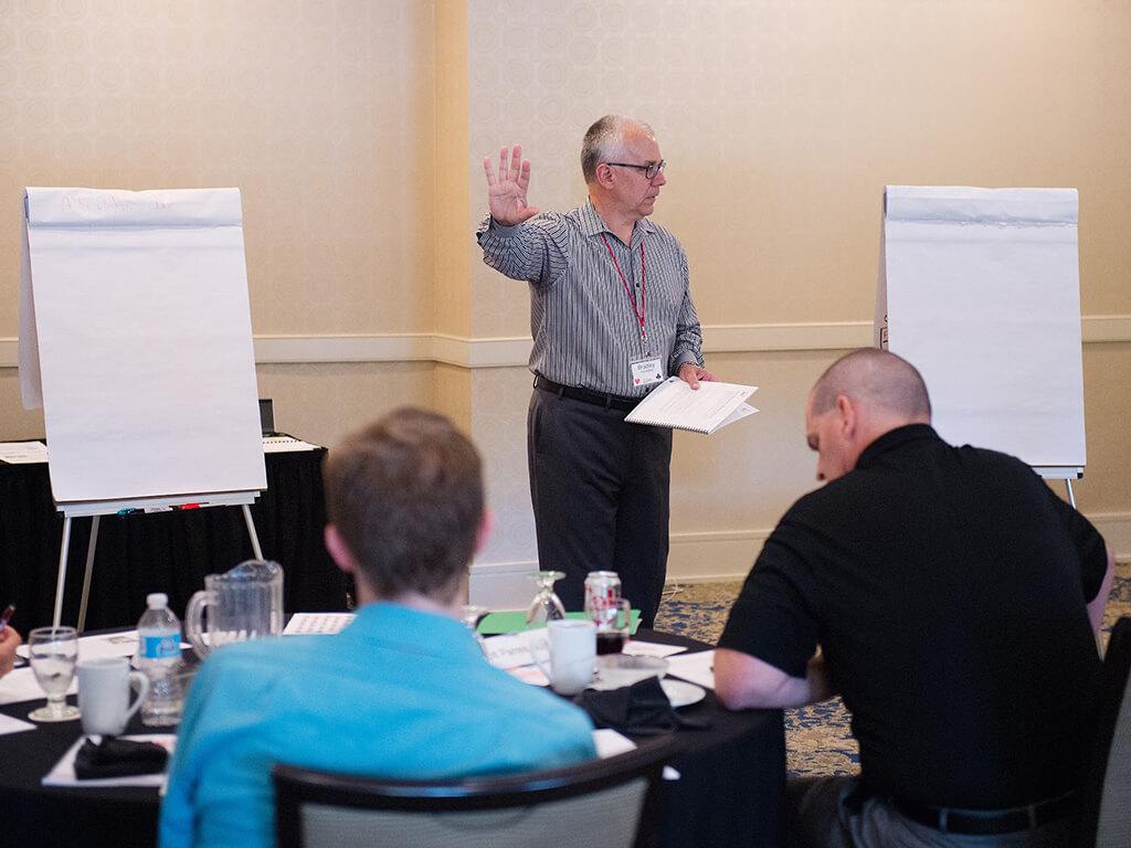 Bradley facilitating a MAP Negotiation workshop